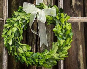 """Boxwood Wreath , Natural Boxwood , Preserved 8"""" Boxwood , Dried Flowers , Boxwood Etsy , Boxwood DIY , Boxwood for Wedding , Wedding Table"""