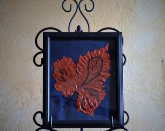 Red Paisley Adirondack Maple Leaf