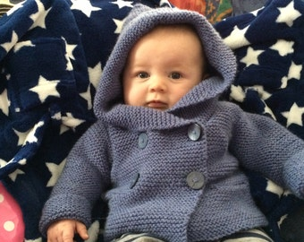 Boys Knitted Duffle Coat