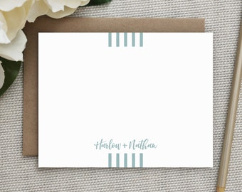 Wedding Thank You Cards. Wedding Thank You Notes. Personalized Notecard Set. Stationary. Note Cards. Personalized. Stationery. Runway
