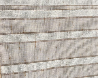 Natural beige , linen blend , transparent canvas