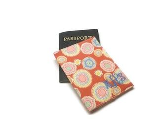 Retro style passport holder, passport cover, passport case, passport wallet, cotton fabric case, graduation gift idea, monogrammed gift idea