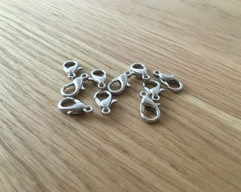 10 x Silver Clasps 6x12mm