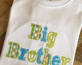 Big Brother applique shirt
