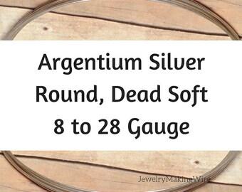 Argentium Silver Wire, Round, Dead Soft, 8 10 11 12 13 14 16 18 19 20 21 22 24 26 28 Gauge, Jewelry Making Wire, Tarnish Resistant