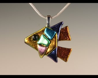 Dichroic Glass Angel Fish