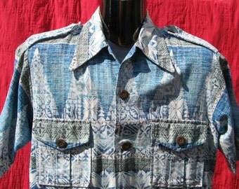 inside out barkcloth Hawaiian shirt