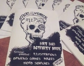 Halloween art and activity book - art, drinking games, and puzzles