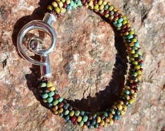 Sante Fe Kumihimo Beaded Bracelet