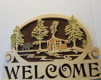 Cabin Welcome Sign II