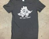Small...GLOW-in-THE-DARK, Gray, Brett Kern Stegosaurus Shirt
