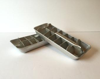 Vintage Westinghouse Ice Cube Trays,  Ice Cube Maker, Mid Century Kitchen, Aluminum Ice Trays