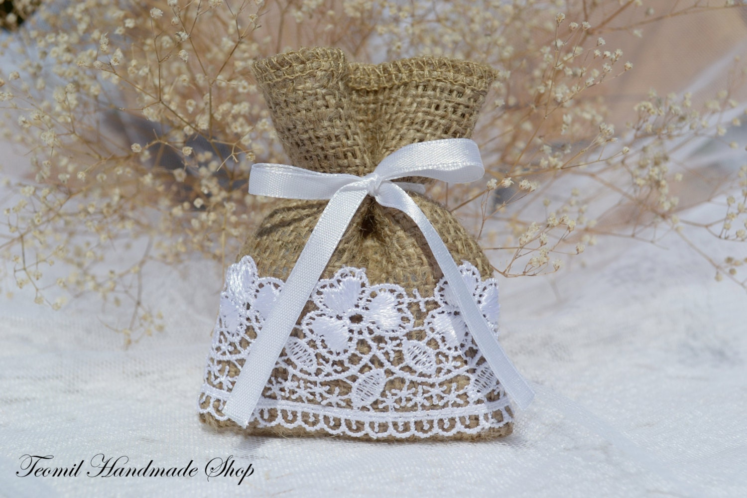 Small Wedding Gift Bags: Wedding Favor Bags Small Favor Bags Burlap Gift Bag By Teomil