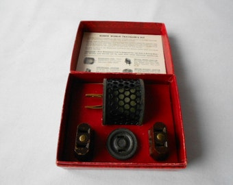 Vintage 1940's Schick World Travelers Kit Power Adapters in Original Box
