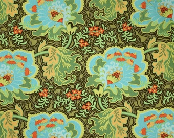 Amy Butler Belle Gothic Rose Blue Fabric PWAB107-BLUE