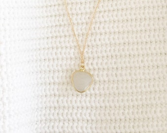 Adria moonstone necklace, gold moonstone necklace, gold necklce, moonstone, moonstone necklace, moonstone jewelry
