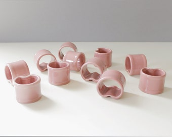Vera Neumann Napkin Rings Ceramic
