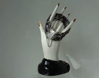 Multi Strand Beaded Bracelet, Multi Strand Cuff Bracelet, Multi Strand Boho Bracelet