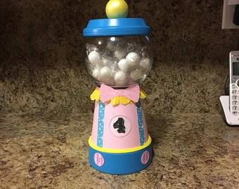 Girly Circus Gumball Jar