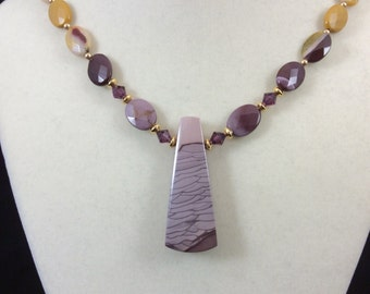 Stunning Willow Creek Jasper with Mookiate Beads