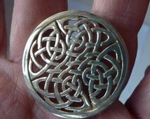 Beautiful Large Vintage 1980s Hallmarked Silver Scottish ORTAK Brooch by Malcolm Gray