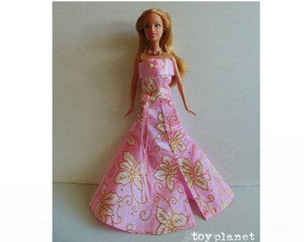 OOAK BARBIE Doll - New Fashion  & Jewelry Set - strawberry blonde in pink gown