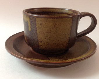 Iron Mountain Stoneware Roan Mountain Cup and Saucer Set, Nancy Patterson Lamb