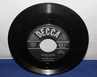 GEORGIE SHAW Record 1956 Honeycomb/Till We Two Are One Decca 45 RPM