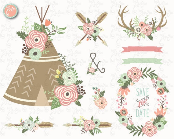 floral tribal clip art floral teepee clipart floral teepee rh catchmyparty com tribal clip art designs free tribal clip art designs free