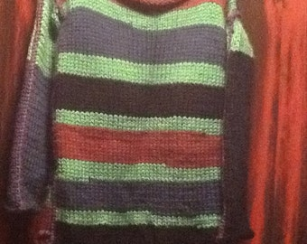 Multi color wool sweater