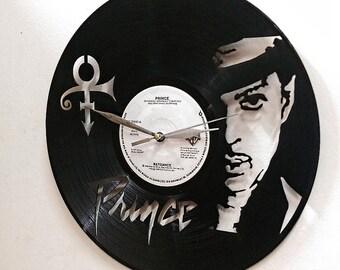 Prince Roger Nelson Wall Art -Vinyl LP Record Clock or Framed Vinyl-Great Rock'n'Roll Gift ,Vinyl Wall Clock,Wall records clock