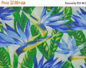 SALE 10% OFF Bird of Paradise Fabric Tropical Flowers - by Ro Gregg 100 Percent High Quality Cotton - Northcott 2612