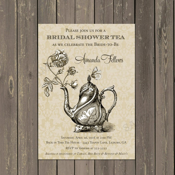 Bridal shower tea party invitation teapot shower invitation il570xn filmwisefo