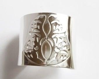 Bracelet silver butterfly cuff