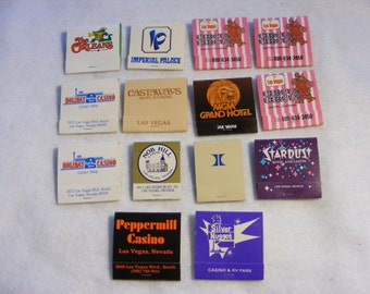 Lot 14 Matchbook Covers, Matchbook Covers, Vegas Covers, Las Vegas Matchbooks, Casino Matchbooks, Silver Nugget, Peppermill Casino, Holiday