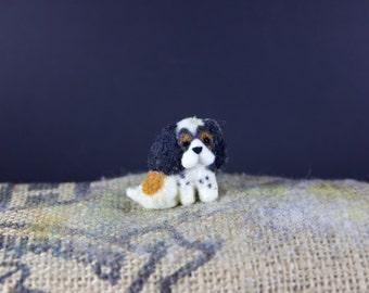 Doodle dog: cavalier spaniel badge, key chain or bag charm - new home dog gift brooch or keychain