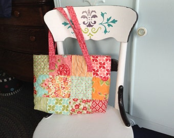 Quilted tote bag/purse