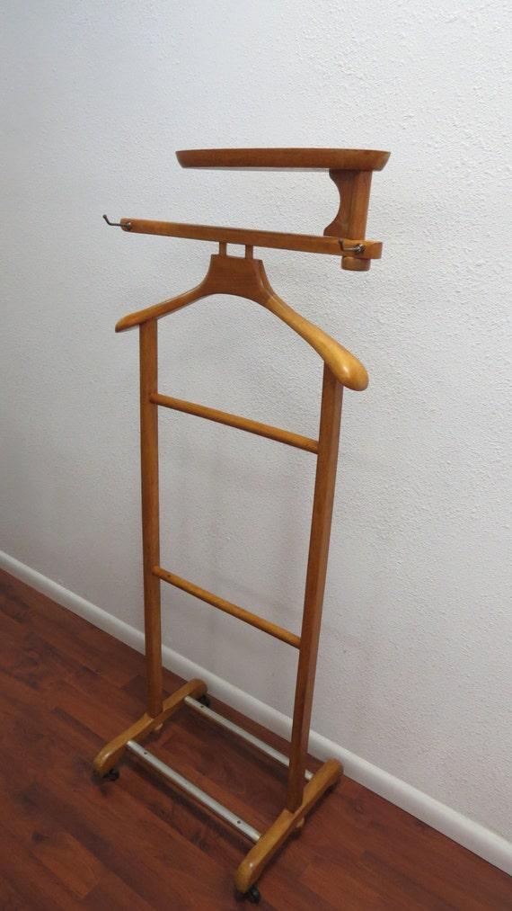 Wooden Valet Stand ~ Vintage wood stand up wardrobe valet