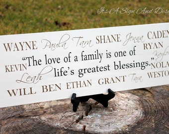 Blended Family Wedding, Blended Family, Blended Family Wedding Gift, Blended Family Sign, Blended Family Gift, Grandparent gift with names