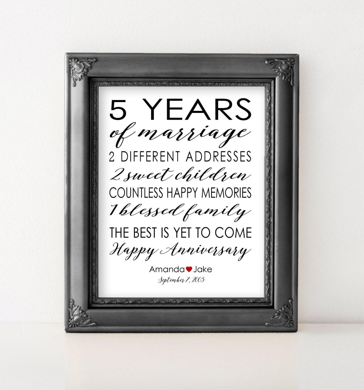 5 Yr Wedding Anniversary Gift