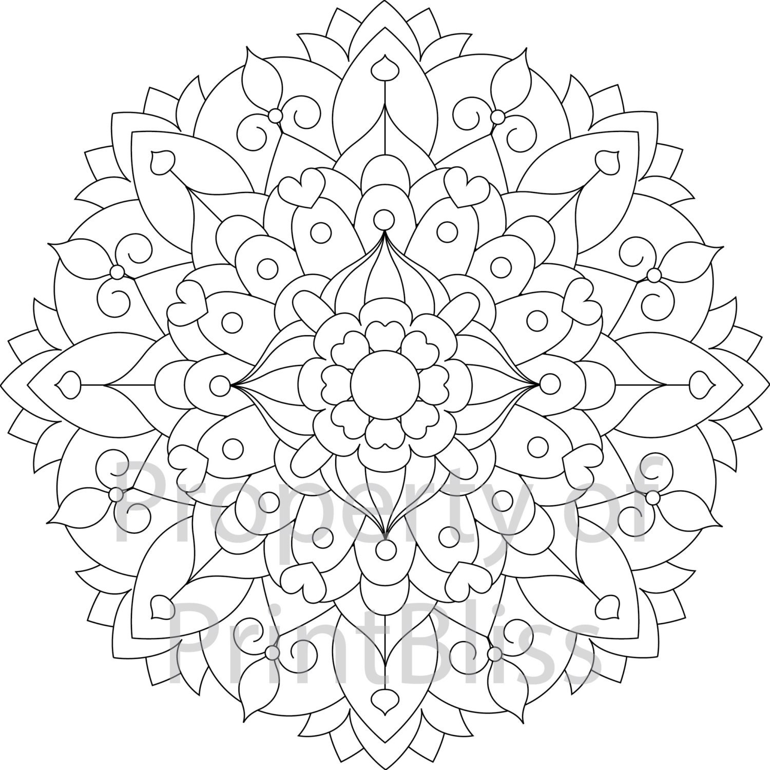 14 flower mandala printable coloring page. Black Bedroom Furniture Sets. Home Design Ideas