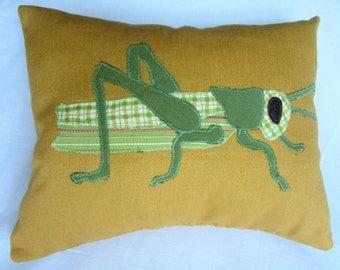 Grasshopper Pillow - Goldenrod