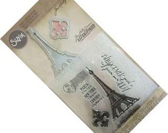 Tim Holtz Stamps Embossing Folder and Dies Set PARIS ADVENTURE - 561220 Sizzix Dies 1-cc02