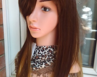 Wigs  realistic brown wig
