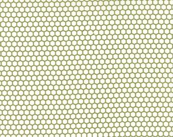 Little Miss Sunshine Honeycomb in Leaf by Vanessa Goertzen for Moda Fabrics