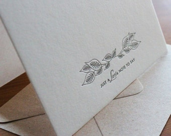 Just a little note… Letterpress Notecard