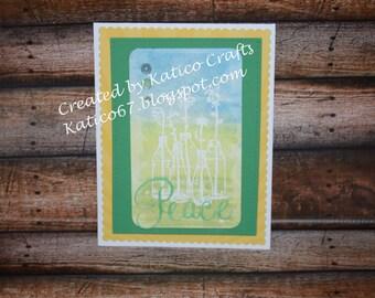 Peace watercolor card