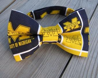 michigan graduation bow tie children michigan bow tie Michigan football bow tie men blue bow tie men boy blue bow tie University of Michigan