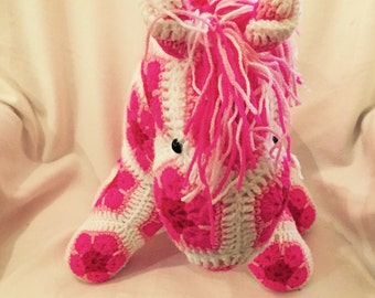 Soft Handmade Crochet Pony (made to order)