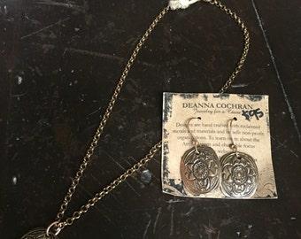 Bronze Medallion Necklace pictured w/ earrings